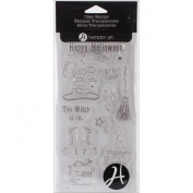 Hampton Art Outlines Clear Stamp Set, 10cm x 20cm , The Witch is In