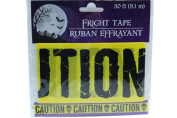 9.1m Yellow Caution Fright Tape Halloween Decoration Haunted