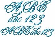 ABC Machine Embroidery Designs Set - Monogram 10cm Two Sizes - 124 Designs - 4x 4 Hoop - CD