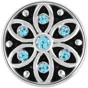 Petite Ginger Snaps STARLIGHT - AQUA BLUE GP05-39 Interchangeable Jewellery Snap