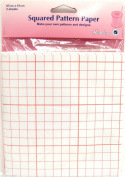Dressmakers Squared Pattern Paper Square Pattern Paper 3 Sheets 87cm x 61cm