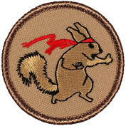 Ninja Squirrel Patrol Patch - 5.1cm Round