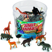 Learning Resources Jungle Animals Set of 60- Toy Figure Playset- Five Each of 12 Different Species- 5.1cm - 7.6cm - Play Props, Enhancing Vocabulary and Language Skills Through Imaginative Play