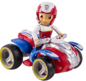 Nickelodeon, Paw Patrol - Ryder's Rescue ATV, Vehicle and Figure- Toy Figure Vehicles- The Heroic Leader, Rescuer and Teacher of the Paw Patrol