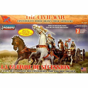Civil War Horse-Drawn Field Artillery 1/16 Lindberg
