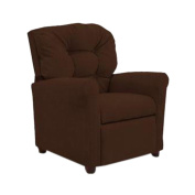 Dozydotes Child Recliner 4 Button Chocolate Micro Suede DZD14020