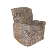 Dozydotes Child Rocker Recliner Contemporary All Cheetah Fabric DZD10893