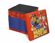 Nickelodeon Paw Patrol Sit-and-Store Folding Ottoman Toy Toy, 38cm x 38cm x 38cm