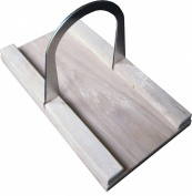 Bread Slicer Hickory Elite, Brushed Stainless Steel Guide and Hickory Wood Bread Board
