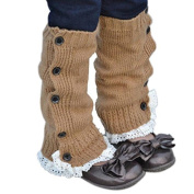 FEITONG® Baby Kids Toddlers Girls Crochet Knitted Lace Boot Cuffs Toppers Leg Warmer Socks