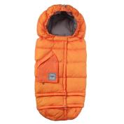 7 A.M. ENFANT Blanket 212 Evolution Extendable Baby Bunting Bag Adaptable for Strollers, Neon Orange