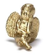 Dollhouse Miniature Pondering Cherub in Gold by Falcon Miniatures