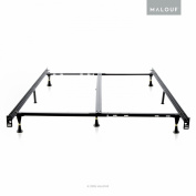 STRUCTURES Low Profile 8-Leg Heavy Duty Adjustable Metal Bed Frame with Glides - Universal Size