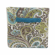 Chooty & Company Paisley Chocolate Storage Bin with Teal Handle, 28cm Height x 27cm Width