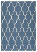 Nourison Home & Garden Indoor/Outdoor 5.3X7.5 Navy Area Rug, 100% Polyester
