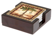 Thirstystone Palms-II with Holder Gift Set, Multicolor