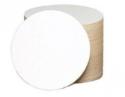 Qty 125 Plain White Round Coasters