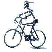 Berry President® Collectible Metal Art 20cm Bike Bicyclist Sculpture