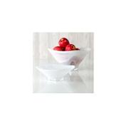 Shiraleah Large White Polished Alabaster Squared Bowl