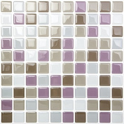 Tic Tac Tiles - High Quality Anti-mould Peel and Stick Wall Tiles in Square Lavendergrey