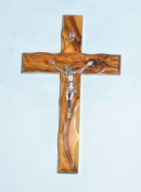 Wall Cross Crucifix Olive Wood Bethlehem Holy Land Jerusalem 13cm