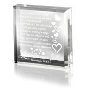 Kate Posh - 1 Corinthians 13 Love Never Fails Keepsake and Paperweight