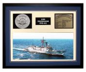 Navy Emporium USS Ingraham FFG 61 Framed Navy Ship Display Blue