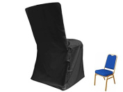 10 pcs Polyester Banquet CHAIR COVERS - Black