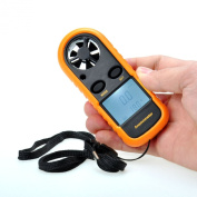 AGM® Digital Handheld LCD Air Wind Speed Weather Scale Measure Gauge Metre Thermometer GM816 Anemometer.