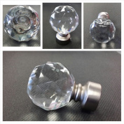 Round Crystal Finials for 2.5cm Drapery Iron Hardware - sold as a pair