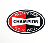 CHAMPION SPARK PLUGS PATCH Iron on Sew Applique Embroidered patches