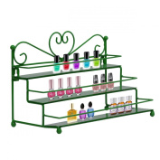 Dazone Mounted 3 Tier Step Metal Nail Polish Wall Rack Stand Essential Oils Perfume Organiser Shelf Holder