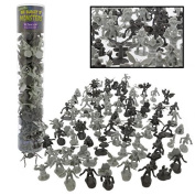 Monster Action Figure Bucket - Big Bucket of 100 Horror Toy Figures - From Draculas, to Frankensteins, to Godzillas, and Giant Spiders and more
