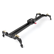 """TNP 24""""/60cm DSLR DV Camera Compact Track Dolly Slider Video Stabilisation Stabiliser Rail System with 17.6ibs/8kg Load Capacity for Studio Photography and Video"""