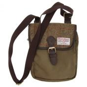 Harris Tweed Authentic Premium Buckle Up Shoulder/Messenger Bag