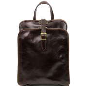 Tuscany Leather Backpack-Dark Brown Leather