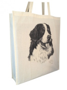 Bernese Mountain Dog MS Cotton Shopping Bag with Gusset and Long Handles Perfect Gift