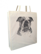 Bulldog MS Cotton Shopping Bag with Gusset and Long Handles Perfect Gift