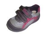 Chicco GYM SHOES, GIRL, OPENING WITH hook and loop COL. PURPLE AND GREY MODEL BUCANEVE