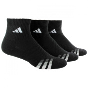 adidas Men's Cushioned 3ST 3-Pack QTR Sock