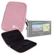 DURAGADGET Pink 18cm Shock-Absorbing Hard EVA Shell Case for the NEW Garmin nuvi 67 LMT, nuvi 68 LMT, Garmin dezlCam LMT-D, nuviCam LMT-D & the Camper 660 LMT-D