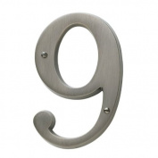 Baldwin 90679055 # 9 House Number, Lifetime Bright Nickel