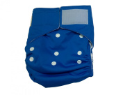 Beaming Baby Washable Nappy hook and loop Close, Blue