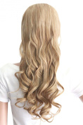 """MapofBeauty 24"""" 60cm Natural Looking Curly Long 3/4 Hair Half Wigs"""