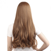 """MapofBeauty 28"""" 70cm 3/4 Half Wig Caps Large Waves Roll Hair Extension"""