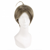 "MapofBeauty 12""/30cm Mixed Grey Men With Short Hair Cosplay Wigs"