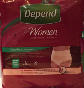 THREE PACKS of Depend For Women Absorbent Underwear Super Large 9 Pants