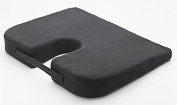 Lower Back Wedge Support Cushion Black Faux Leather