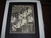 STEVE HARLEY FACE TO FACE THE BEST OF HARLEY 1977 ORIGINAL POSTER SIZE AD IN A MOUNT READY TO FRAME