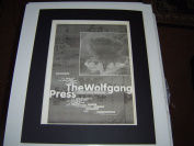 THE WOLFGANG PRESS FUNKY LITTLE DEMONS 1995 ORIGINAL POSTER SIZE AD IN A MOUNT READY TO FRAME